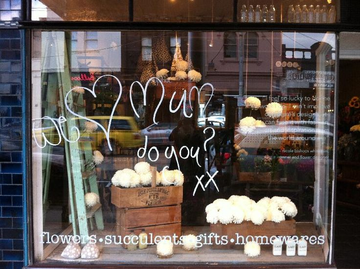 This Is A Cute Window Display For Mothers Day