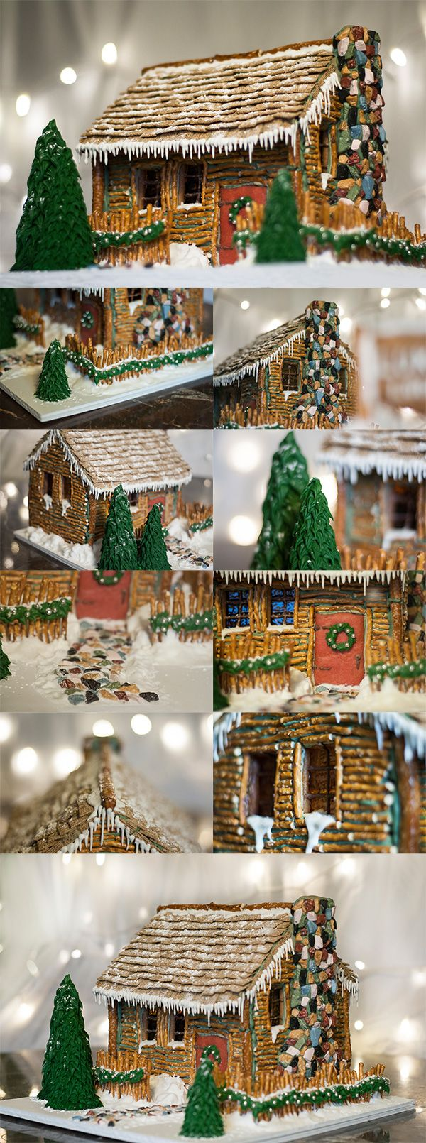 """Christmas Log Cabin"" by Kaitlin L."