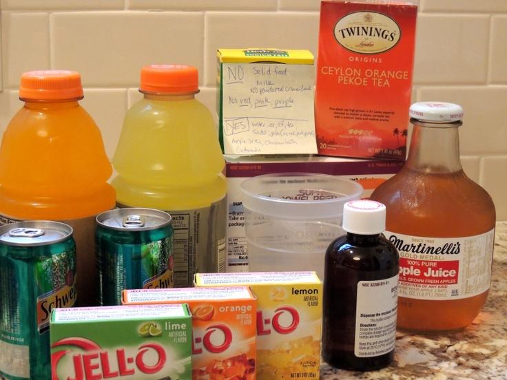 Colonscopy prep food Personal Posts Pinterest Food