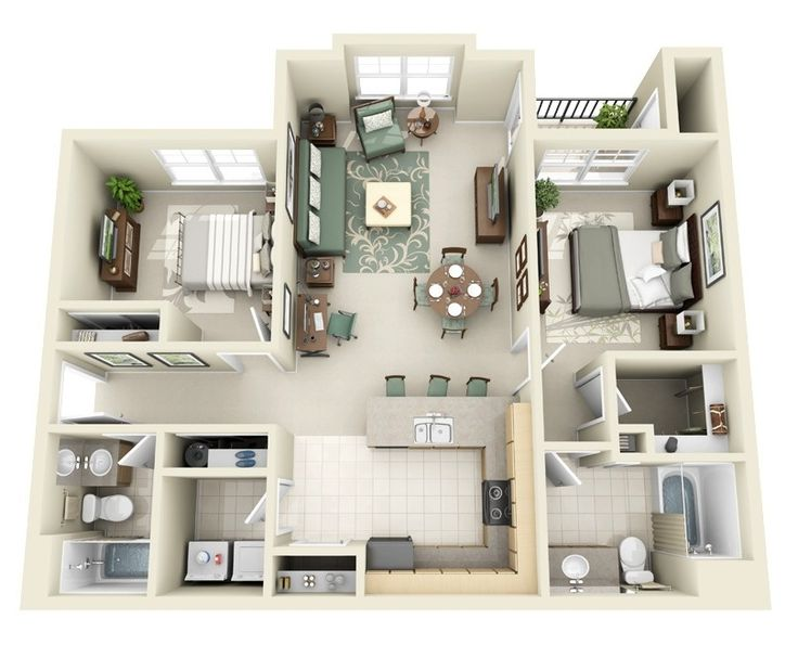 25+ Best Ideas About 2 Bedroom Apartments On Pinterest