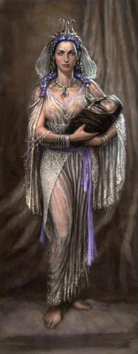 Reia é uma deusa titânica, filha de Urano e de Gaia. Na mitologia romana é identificada como Ops, uma das manifestações da Deusa mãe. Os doze titãs, filhos de Urano e Gaia, eram Oceano, Céos, Crio, Hiperião, Jápeto, Teia, Reia, Têmis, Mnemosine, a coroada de ouro Febe e a amada Tétis e Cronos. Irmã e esposa de Cronos, gerou nesta ordem, Hera (a mais velha), seguida de Deméter e Héstia, seguidas de Hades e Posseidon; o próximo a nascer, Zeus.: