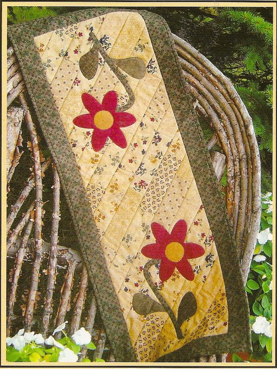 Quilt Table Runner Quilt As You Go Bloomin by PatternPriority, $5.95