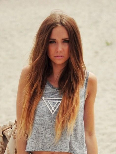 ombre – don't know that brown to blond is as good as red to blond. Maybe if star