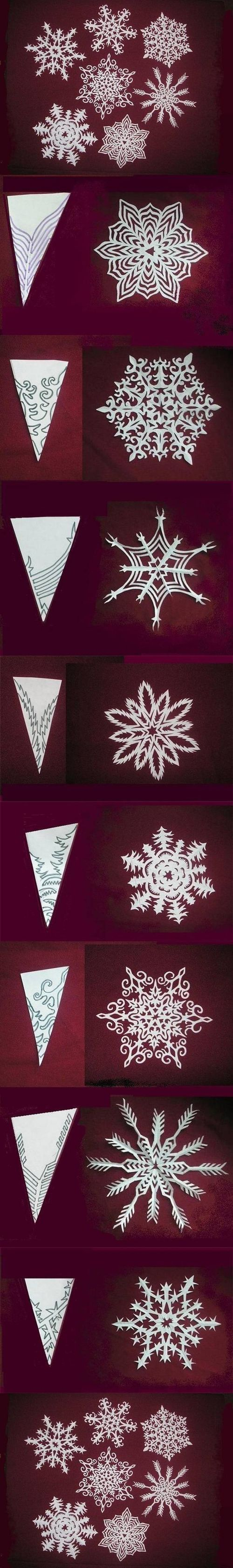 DIY Snowflakes Paper Pattern...might try to attempt one