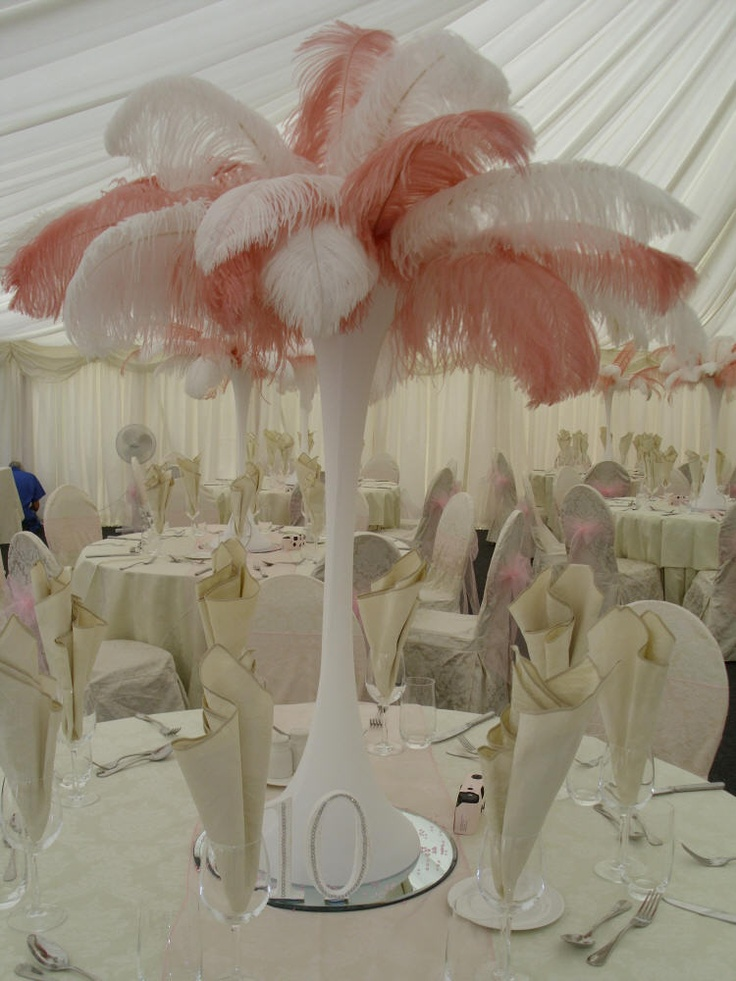 17 Best Images About Feather Centrepieces On Pinterest