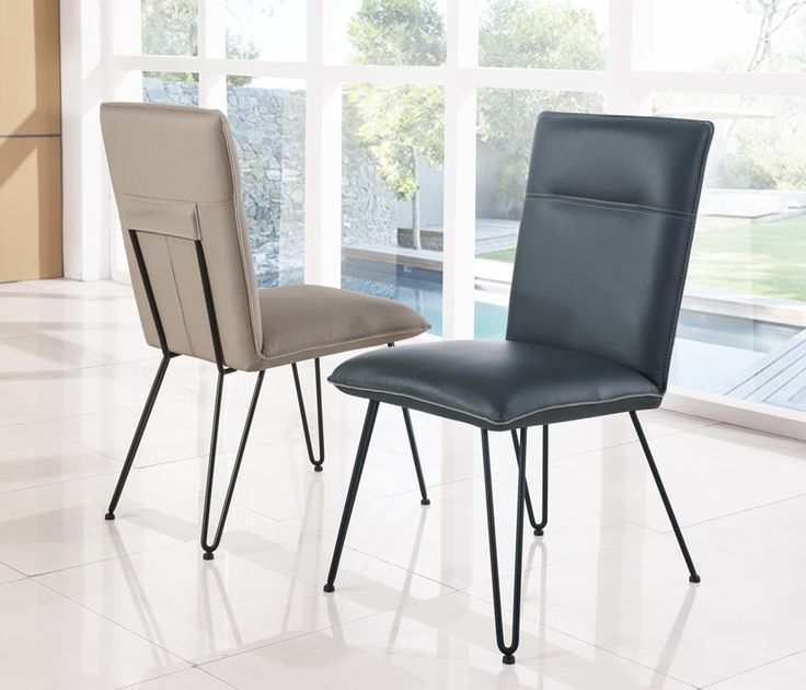 Demi Chairs In Cobalt And Taupe From The Modus Furniture