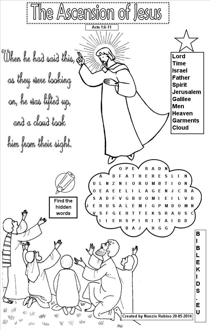 word search for Ascension of Jesus Google Search Bible