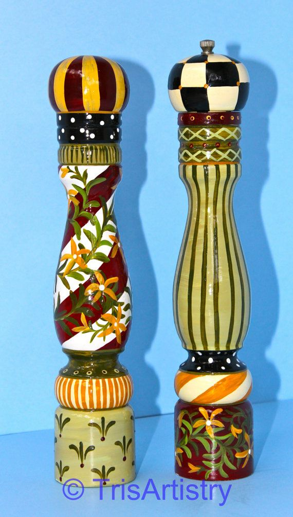 French Red Pepper Mill Amp Salt Shaker By TrisArtistry On Etsy 15500 See More Of My Work At Www