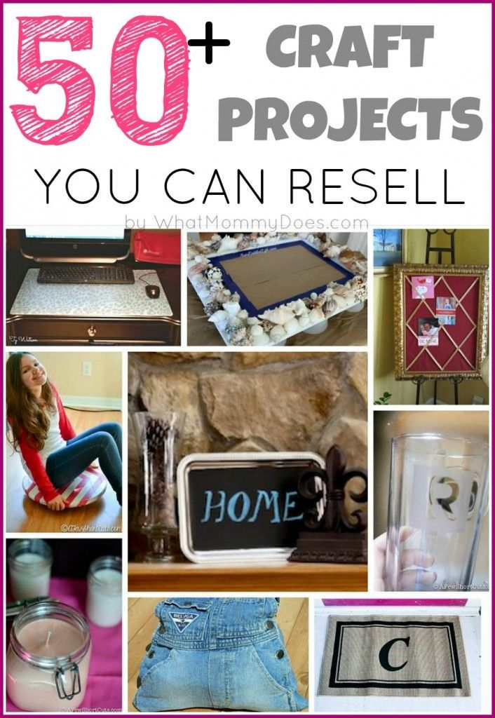 50+ Crafts You Can Make and Sell Things to make, Ideas