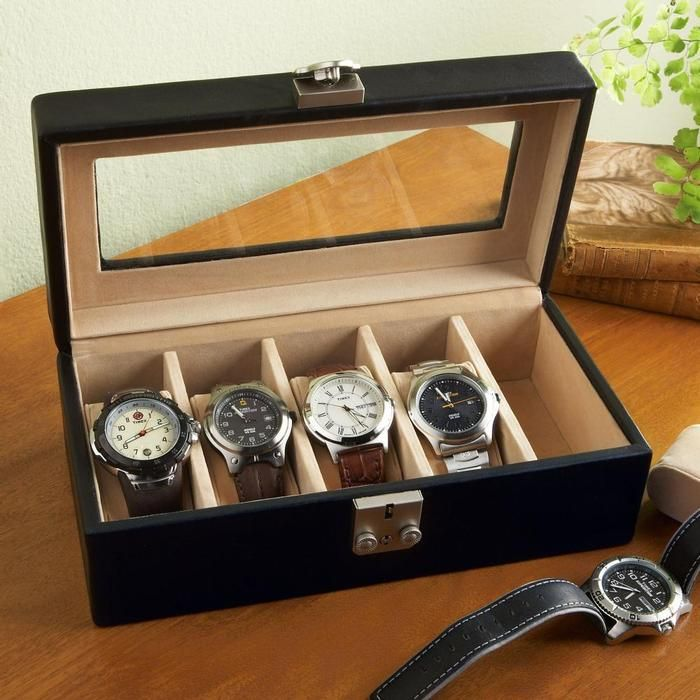 Personalized Leather Watch Box Valet Case - Useful Wedding Gift