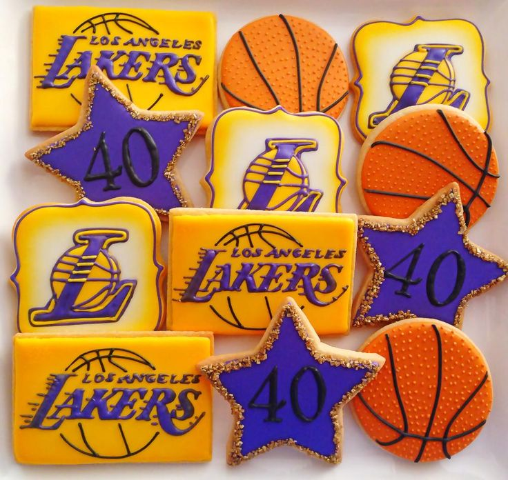 LA Lakers Inspired Cookies By Compassionate Cake! Sport