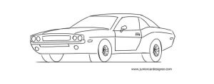 How To Draw A Muscle Car: Dodge Challenger | Car Drawing