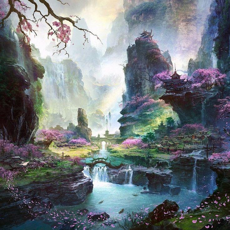 Cherry Blossom Wallpaper Night japanese landscape