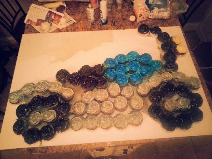 Motorcycle Cupcake Cake Cupcake Cakes Pinterest
