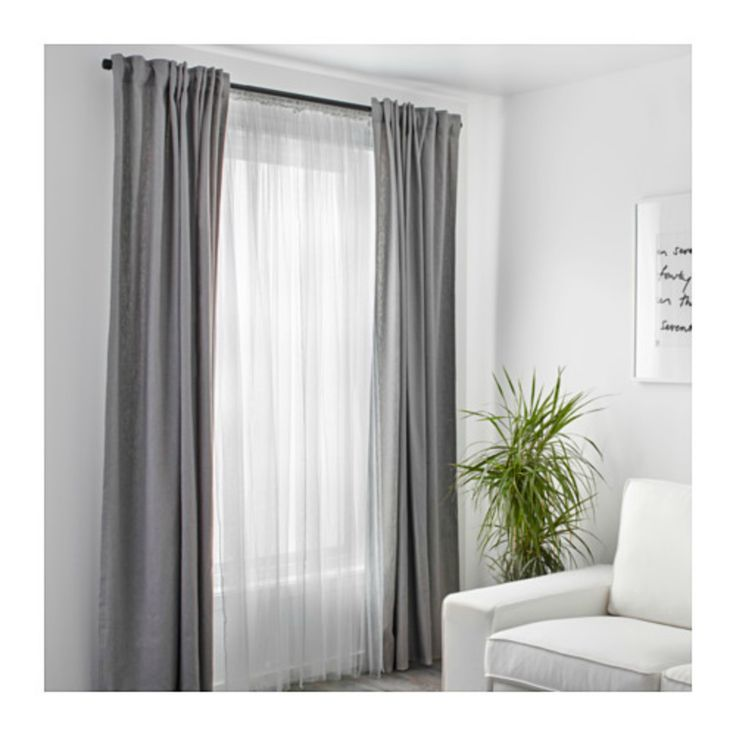 Double Bed Front Window Curtain Ideas