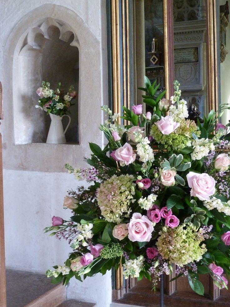 Vintage church flowers in Wellow, Bath Flower