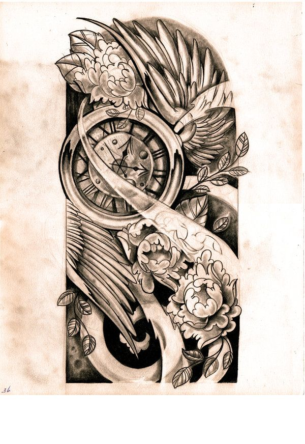 Half Sleeve Tattoo Designs Drawings sketch by WillemXSM