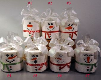 Embroidered Toilet Paper Snowman Embroidered Toilet Paper