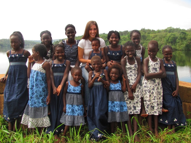 Image detail for Katie Davis and her daughters in Uganda