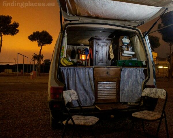 The Interior Kitchen Of Our VW T4 Camper Van All DIY