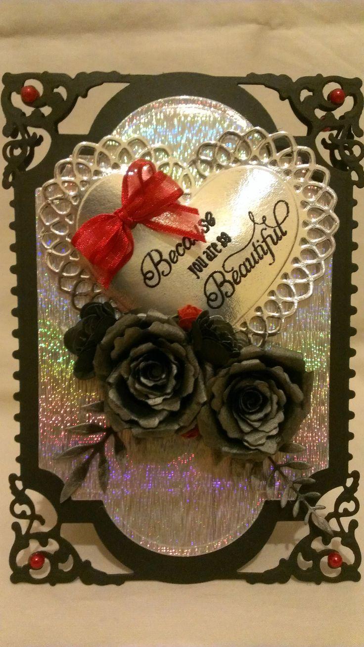Black Rose Valentine Spellbinders Card Creator Enchanted