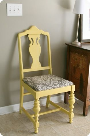 Paint some chairs this color for the front porch. Valspars warm yellow. Should look terrific with a nice dark grey base and the