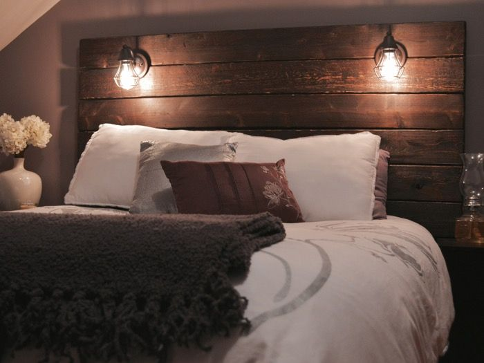 Build A Rustic Wooden Headboard