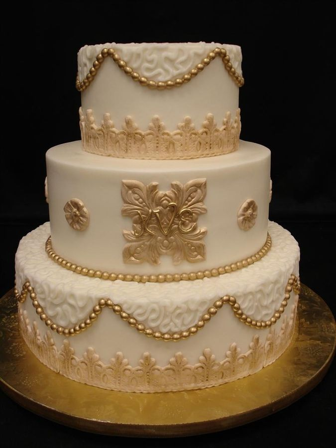Buttercream Cake With Fondant Accents And Highlighted With