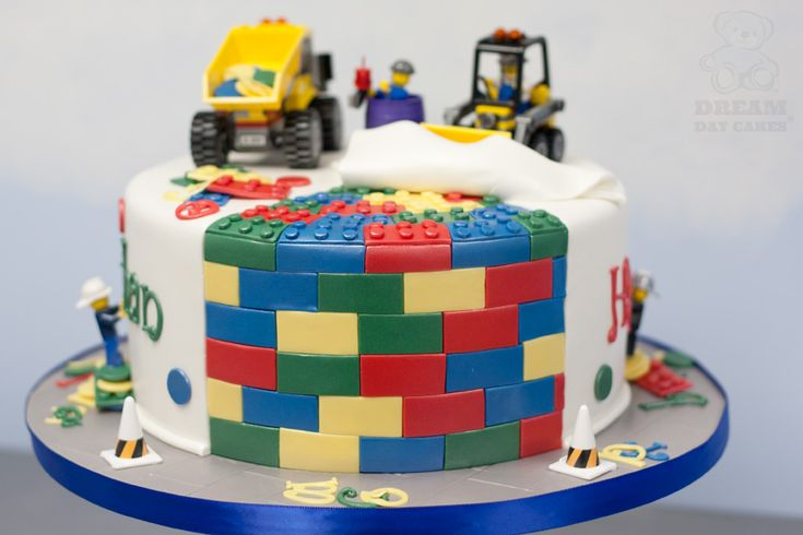 Construction Lego Birthday Cake Kids Party Ideas
