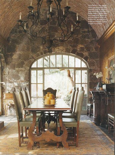 Old World Style Rustic Dining Rooms And Old World On