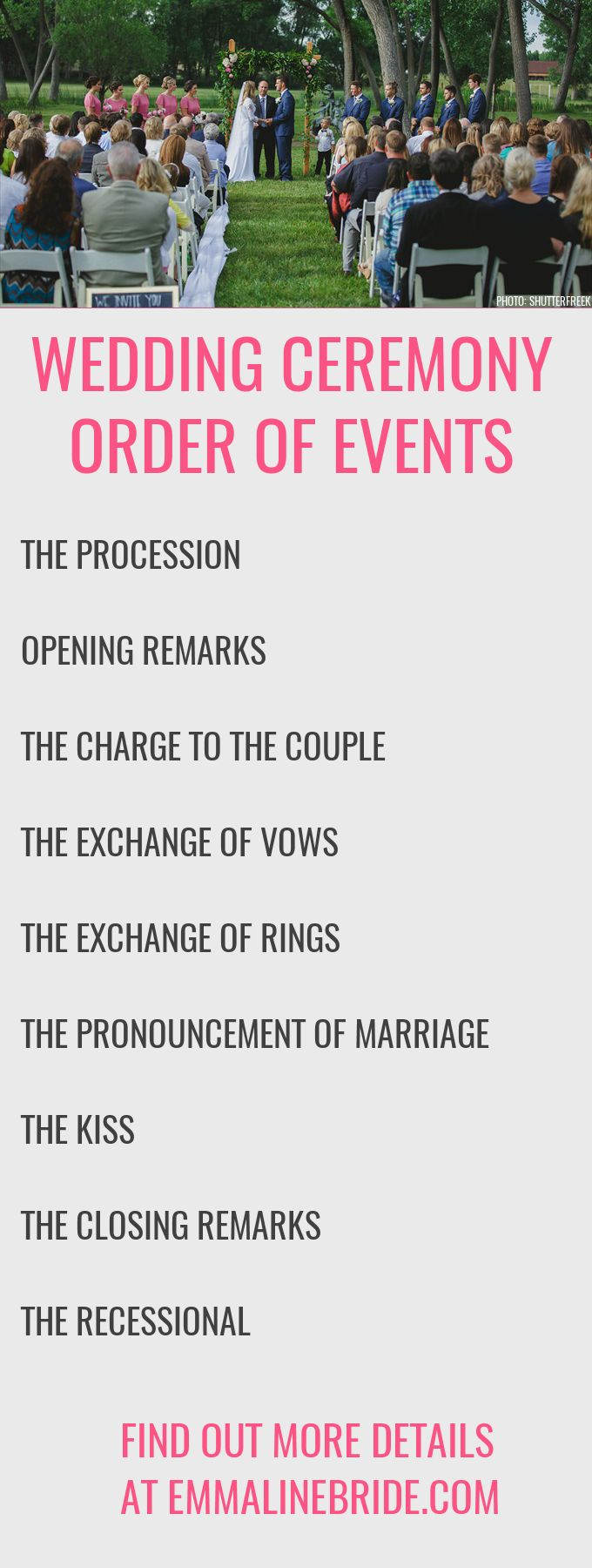 How to Plan Your Ceremony Order of Events http