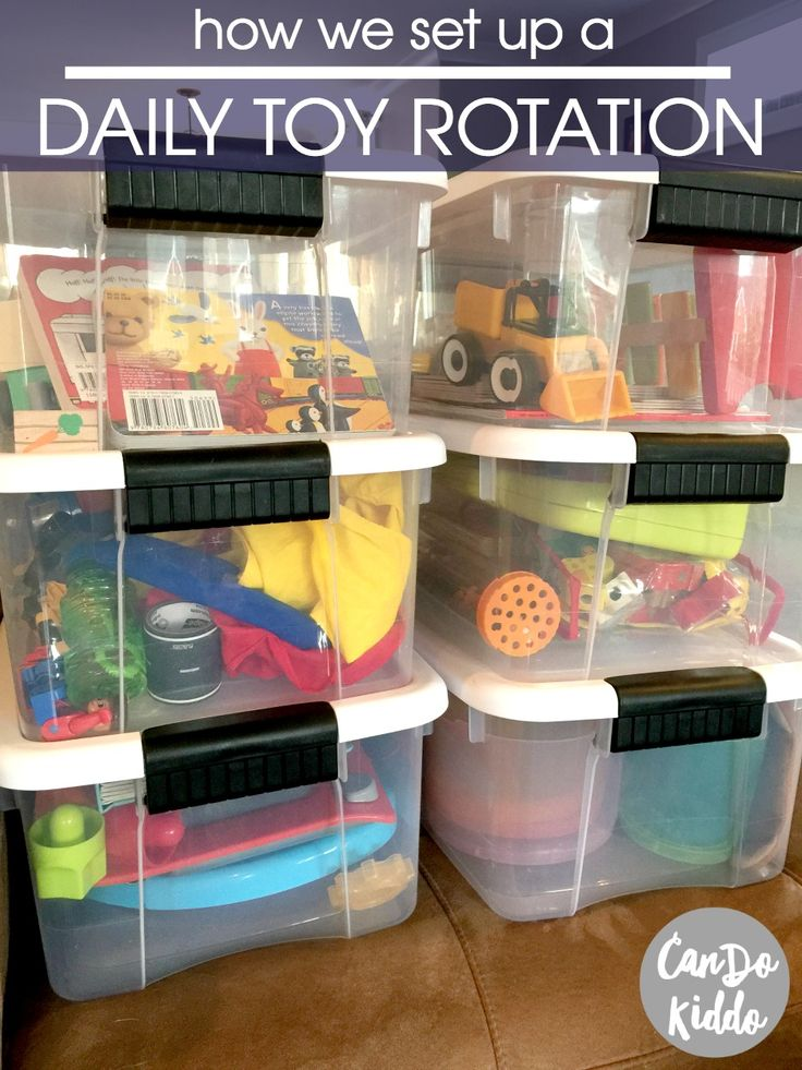 Tips for setting up a daily toy rotation PLUS why I'm finding it easier than a weekly or monthly rotat