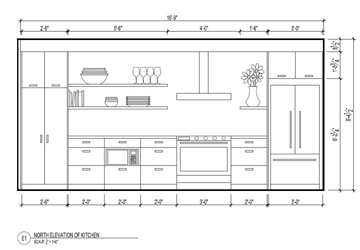 3D + Plans + Section + Elevation