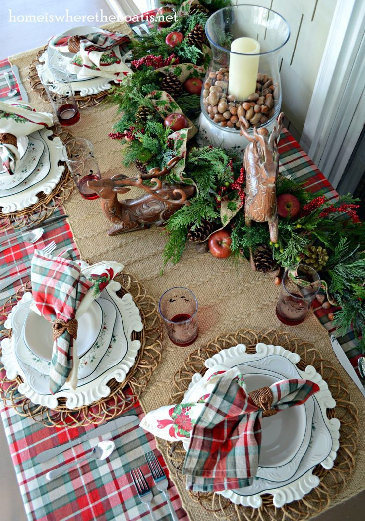 Christmas Woodland tablescape TableScapes...Table