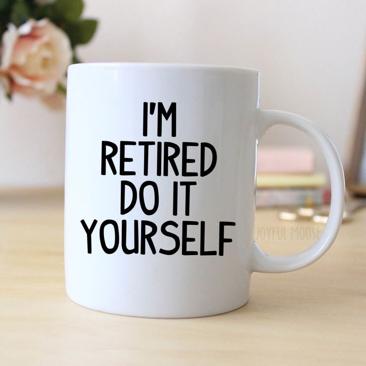 Retired Coffee Mug Retirement Gift Coffee Cup On The