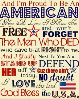 Love This!! I have Americana decor that I always put up on the front step of the house, and this will have to be a new addition!! Love Of Family & Home: Happy 4th of July....{Free Printable}