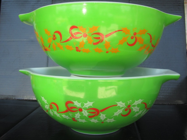Vintage Pyrex Christmas Bowl 100 Very Rare Vintage