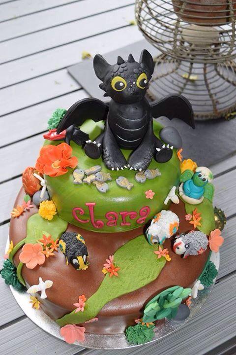 Toothless Cake Dragon Cake Gateau Dragon Croque Mou
