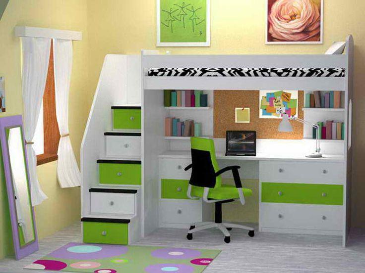 Nice Loft Bed Desk Combo Camas Pinterest Girl Loft