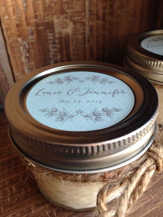 Reserved For Lauren Rustic Mason Jar 4 Oz Ball Quilted