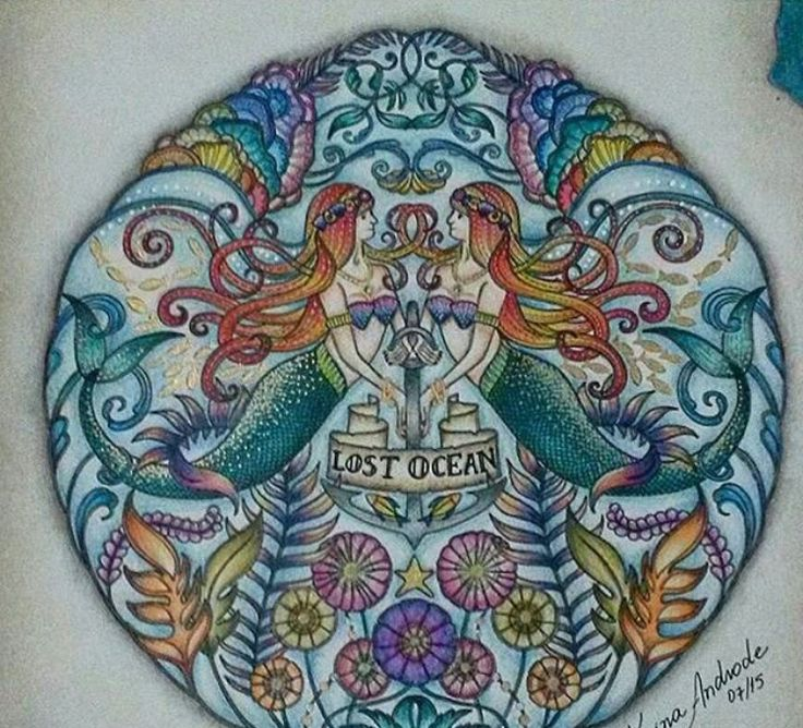 Lost Ocean Johanna Basford Coloring Tuts Amp Finished