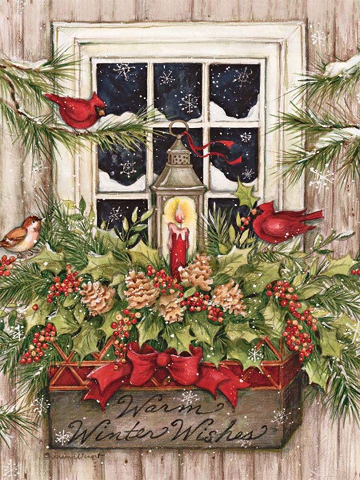 Vintage Christmas Julbilder 2 Pinterest