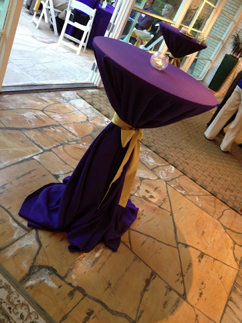 Cocktail Table LSU Themed Dinner Party Weddings