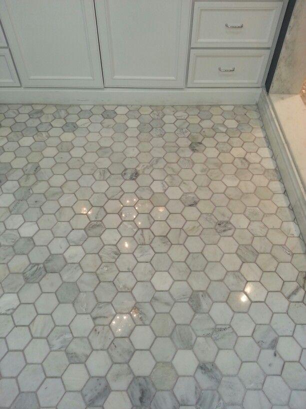 3 Hexagon Carrara Marble Tile Google Search Bathrooms