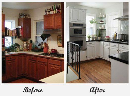 Older Model Mobile Home Makeover Room Makeovers Kitchen 2