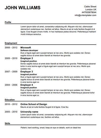 Make A Cv Free For Me. Online Resume Templates Free Resume Online