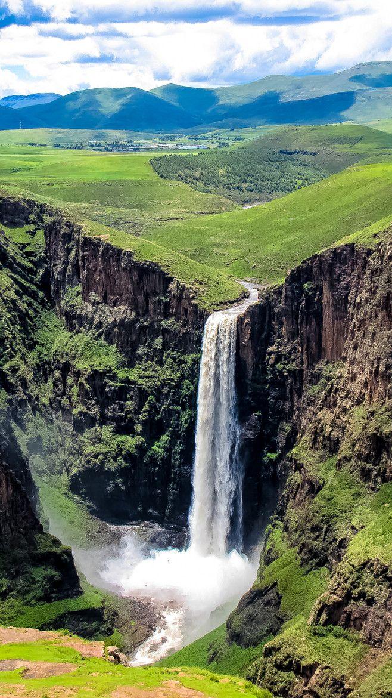 Maletsunyane Falls at Semonkong (Translates to 'The Place