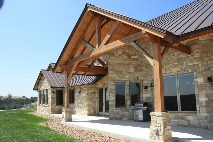 Texas Hill Country Homes Exteriors Texas Timber Frames Residential Hill Country SR Front