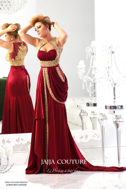 2014 New Arrival Sweetheart Satin Dark Red Prom Dress
