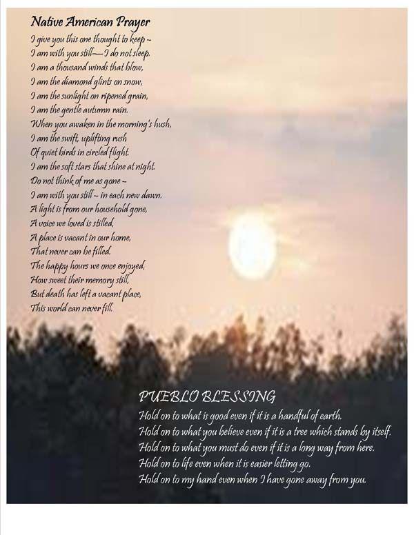 Native American Prayer Amp Pueblo Blessing Native American